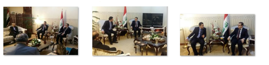 Minister Dr. Iqbal meeting with Mr.Rabih Baalbaki